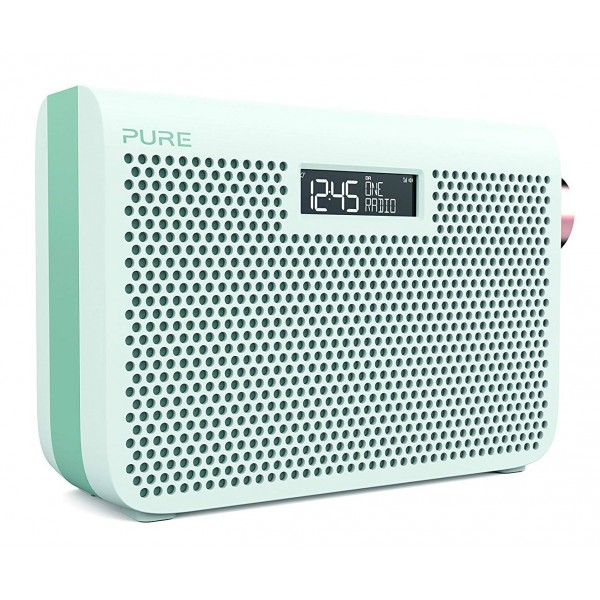 Pure - One Midi Series 3s - Bianco Giada - Portable DAB / DAB + e Radio FM con uno Stile Moderno - Radio Digitale Alta Qualità