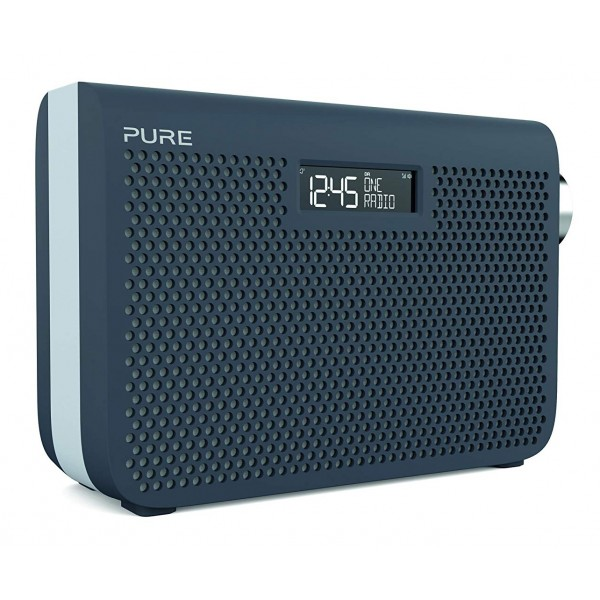 Pure - One Midi Series 3s - Slate Blue - Portable DAB/DAB+ and FM Radio with a Modern Style - High Quality Digital Radio