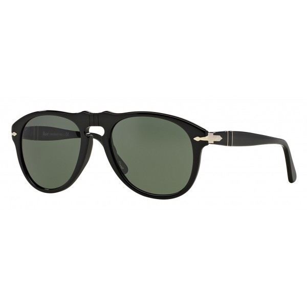 Persol - 649 - Original - 649 Series - Black / Green - PO0649 - Sunglasses - Persol Eyewear