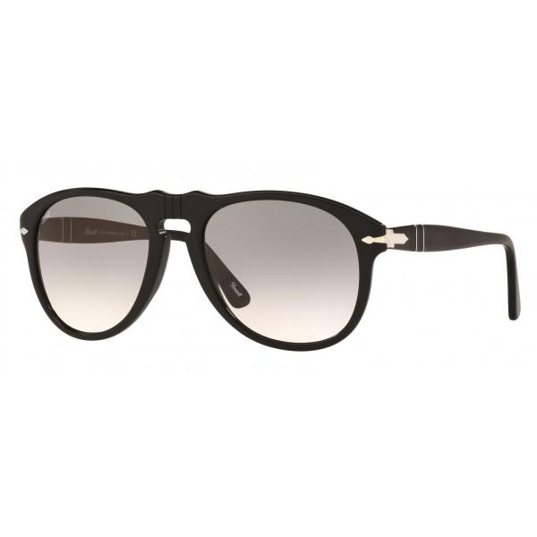 Persol - 649 - Original - 649 Series - Nero / Grigie Sfumate Chiare - PO0649 - Occhiali da Sole - Persol Eyewear