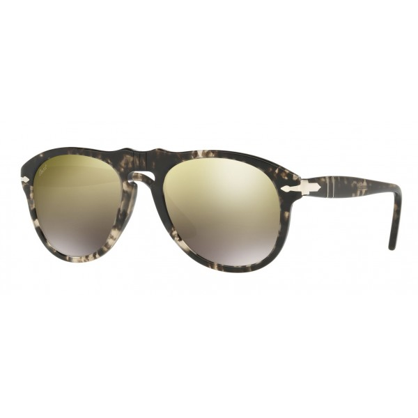 Persol - 649 - Original - 649 Series - Black / Gold Mirror Light Brown - PO0649 - Sunglasses - Persol Eyewear