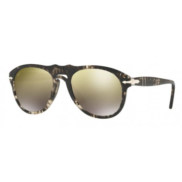 Persol - 649 - Original - 649 Series - Nero / Oro Specchiate Marrone Chiaro - PO0649 - Occhiali da Sole - Persol Eyewear