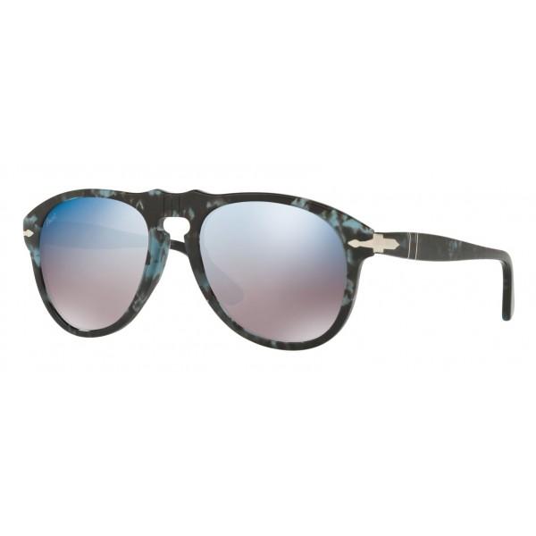 Persol - 649 - Original - 649 Series - Blu / Grigio Blu a Specchio - PO0649 - Occhiali da Sole - Persol Eyewear