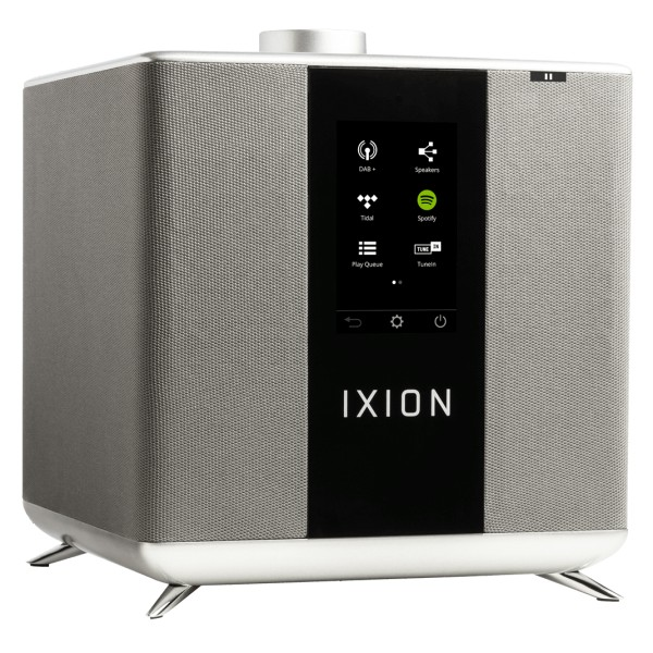 Ixion Audio - Maestro MKII - Grey - Multiroom Speaker - WLAN Multi-Room - Airplay, Stereo, Bluetooth, Wireless, WiFi