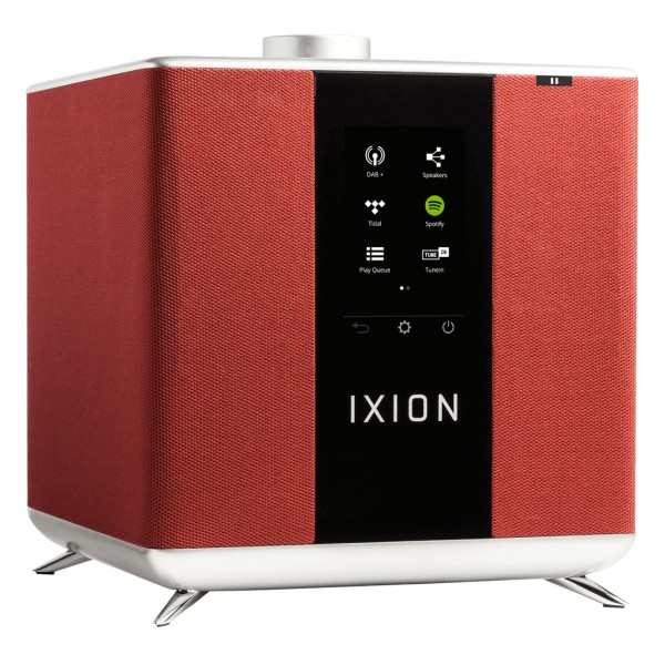 Ixion Audio - Maestro MKII - Rosso - Altoparlante Multiroom - WLAN Multi-Room - Airplay, Stereo, Bluetooth, Wireless, WiFi