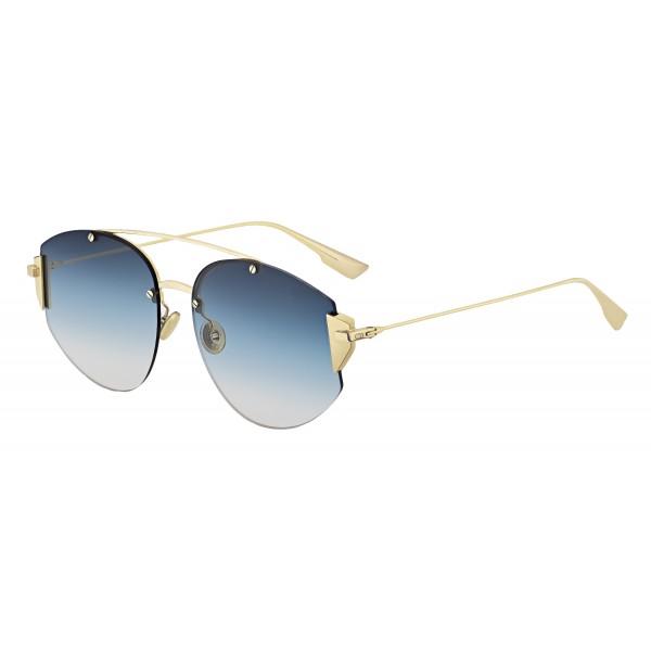 fd0f65b4f726 Dior - Sunglasses - DiorStronger - Gold Metal Blue - Dior Eyewear - Avvenice