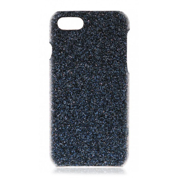 2 ME Style - Cover Swarovski Crystal Fabric Blu Shadow - iPhone XR - Cover in Cristalli di Swarovski