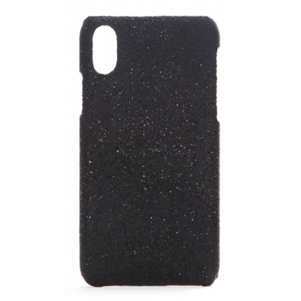 2 ME Style - Cover Swarovski Crystal Fabric Nero Shadow - iPhone XR - Cover in Cristalli di Swarovski