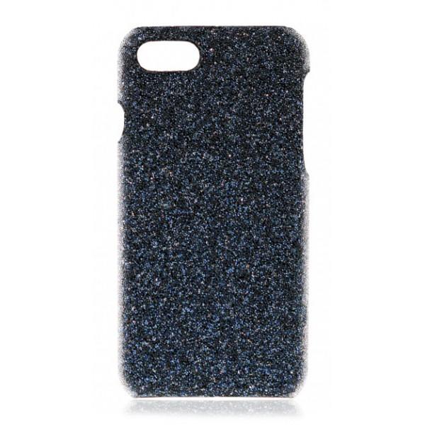 2 ME Style - Cover Swarovski Crystal Fabric Blu Shadow - iPhone XS Max - Cover in Cristalli di Swarovski