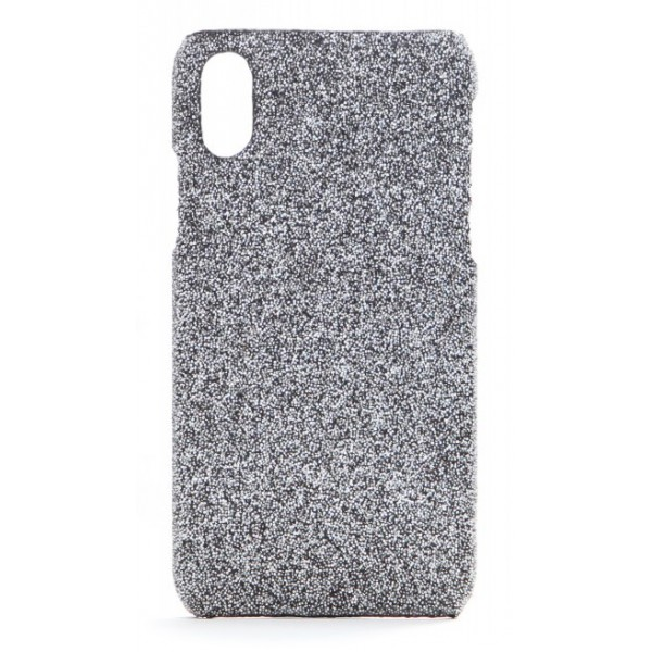 2 ME Style - Case Swarovski Crystal Fabric Silver Shadow - iPhone XS Max - Swarovski Crystal Cover