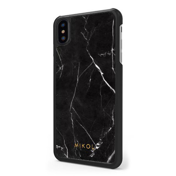 Mikol Marmi - Cover iPhone in Marmo Nero Marquina - iPhone XR - Vero Marmo - Cover iPhone - Apple - Mikol Marmi Collection