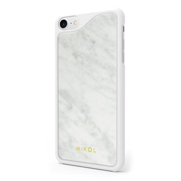 Mikol Marmi - Carrara White Marble iPhone Case - iPhone XR - Real Marble - iPhone Cover - Apple - Mikol Marmi Collection