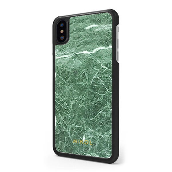 Mikol Marmi - Emerald Green Marble iPhone Case - iPhone XR - Real Marble Case - iPhone Cover - Apple - Mikol Marmi Collectio