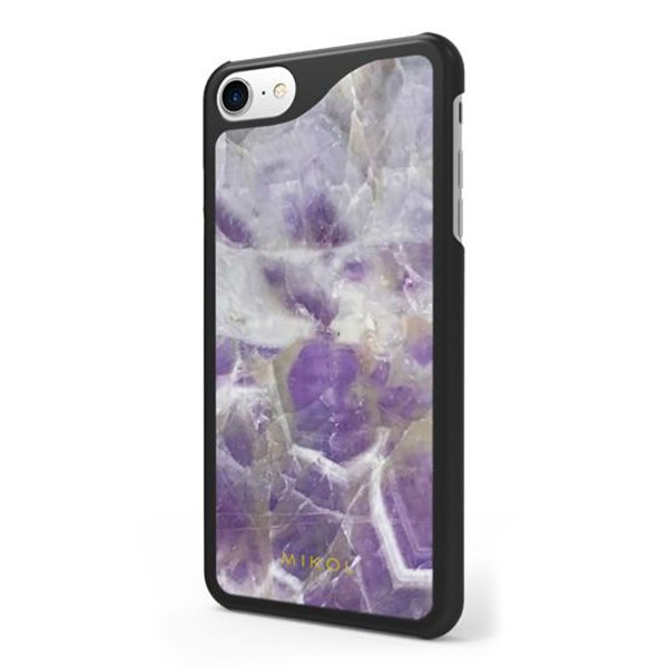 Mikol Marmi - Amethyst Gemstone iPhone Case - iPhone XR - Real Marble Case - iPhone Cover - Apple - Mikol Marmi Collection