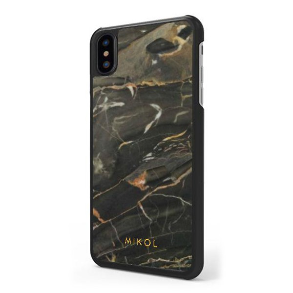 Mikol Marmi - Cover iPhone in Marmo Nero Oro - iPhone XR - Vero Marmo - Cover iPhone - Apple - Mikol Marmi Collection
