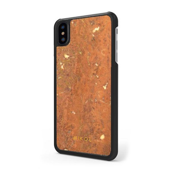 Mikol Marmi - Waitomo Ruby Travertine Marble iPhone Case - iPhone XR - Real Marble - iPhone Cover - Apple - Collection
