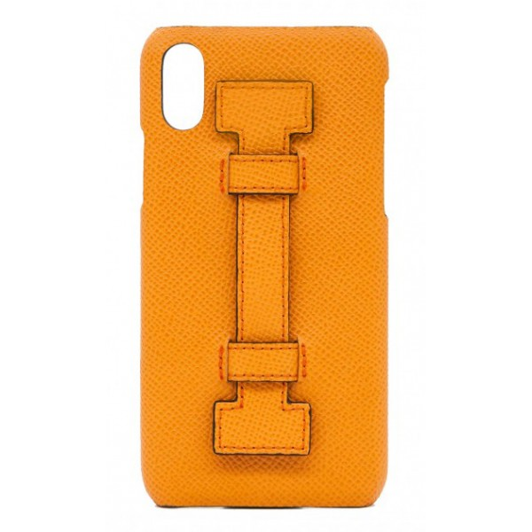 2 ME Style - Cover Fingers in Pelle Arancione - iPhone XR - Cover in Pelle