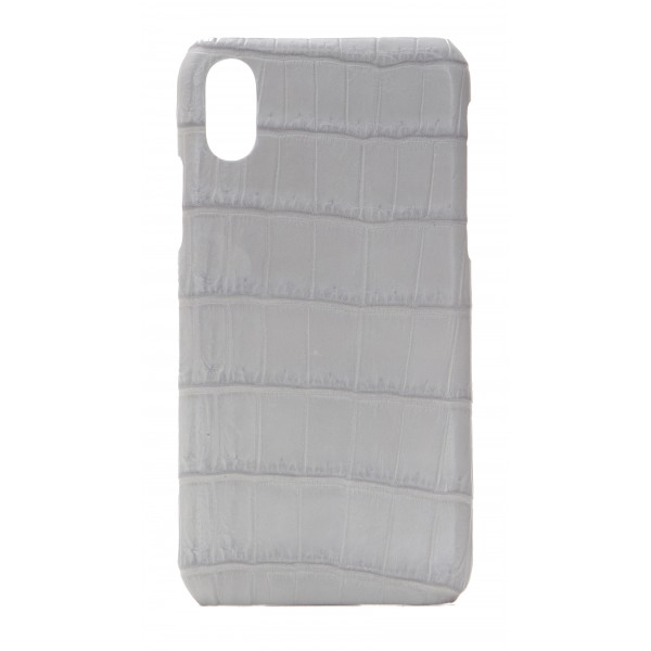 2 ME Style - Case Croco Gris Clair - iPhone XR - Crocodile Leather Cover