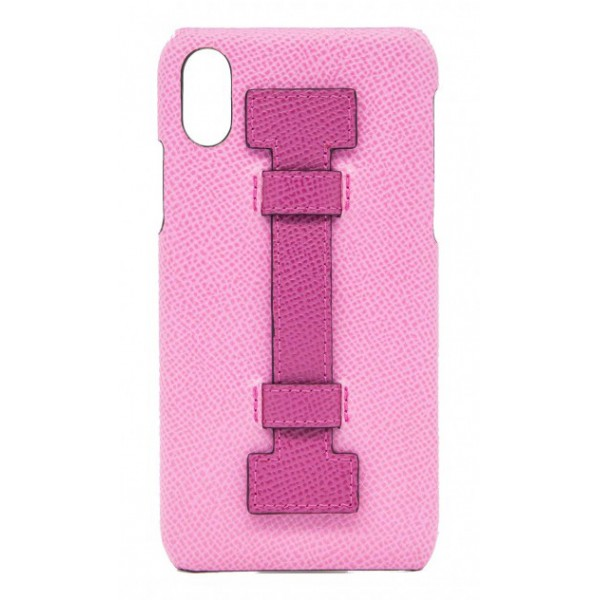 2 ME Style - Case Fingers Leather Pink / Fucsia - iPhone XS Max - Leather Cover