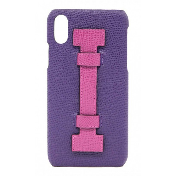 2 ME Style - Case Fingers Leather Purple / Fucsia - iPhone XS Max - Leather Cover