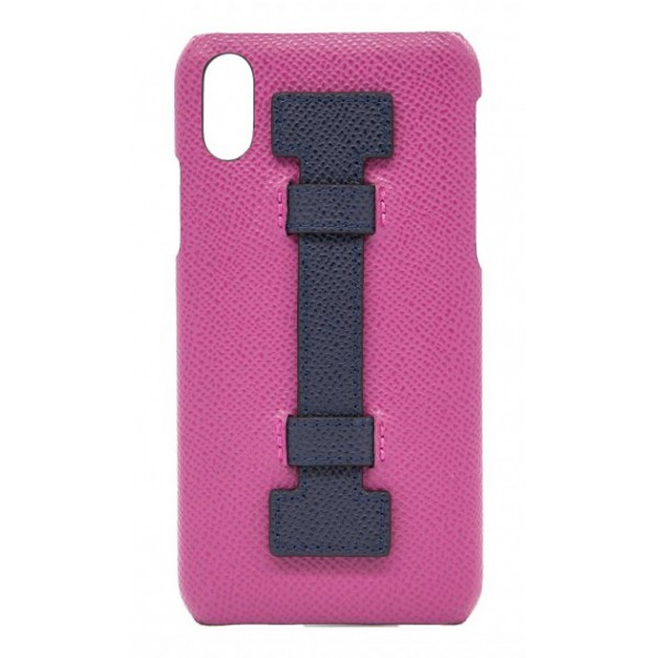 2 ME Style - Cover Fingers in Pelle Fucsia / Viola - iPhone XS Max - Cover in Pelle