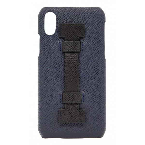 size 40 28b2e bc2e4 2 ME Style - Case Fingers Leather Blue / Black - iPhone XS Max - Leather  Cover - Avvenice