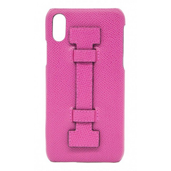 2 ME Style - Case Fingers Leather Fucsia - iPhone XS Max - Leather Cover
