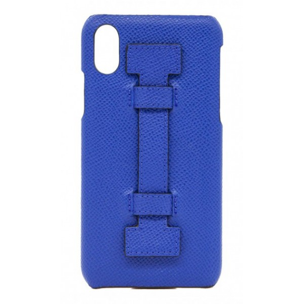2 ME Style - Case Fingers Leather Blue - iPhone XS Max - Leather Cover