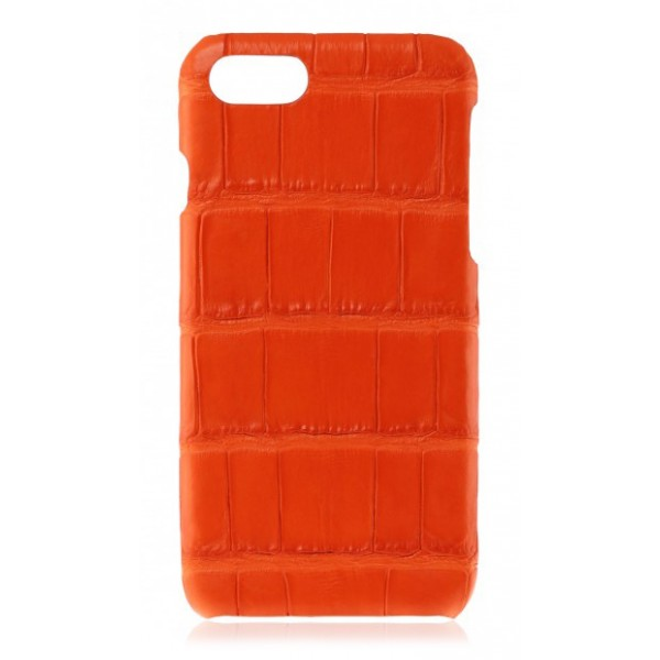 2 ME Style - Case Croco Tangerine- iPhone XS Max - Crocodile Leather Cover