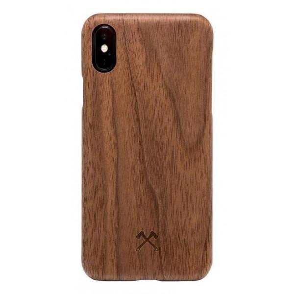 Woodcessories - Cover in Legno di Noce e Kevlar - iPhone X / XS - Cover in Legno - Eco Case - Ultra Slim - Collezione Kevlar