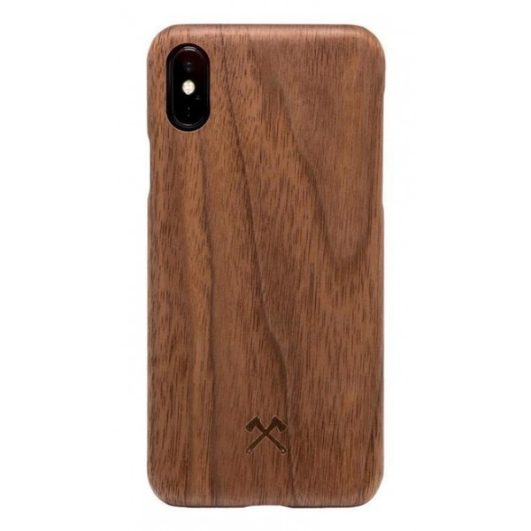 Woodcessories - Walnut / Cevlar Cover - iPhone X / XS - Wooden Cover - Eco Case - Ultra Slim - Cevlar Collection