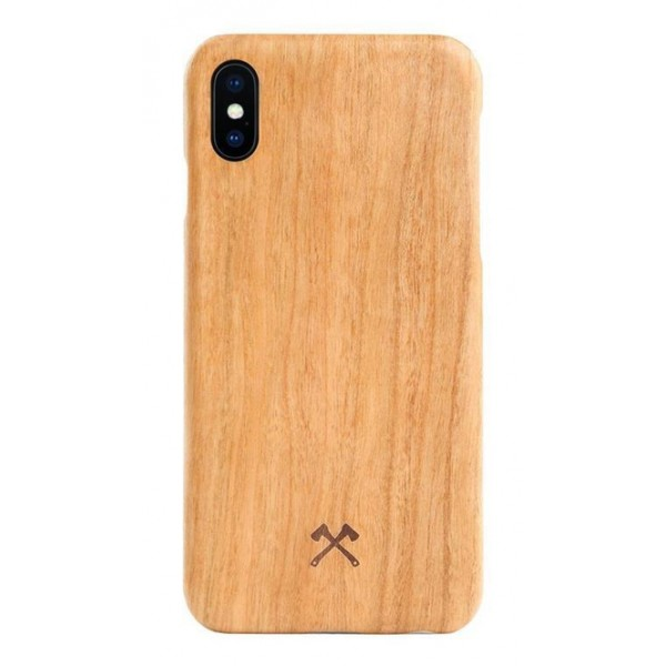 Woodcessories - Cherry / Cevlar Cover - iPhone X / XS - Wooden Cover - Eco Case - Ultra Slim - Cevlar Collection