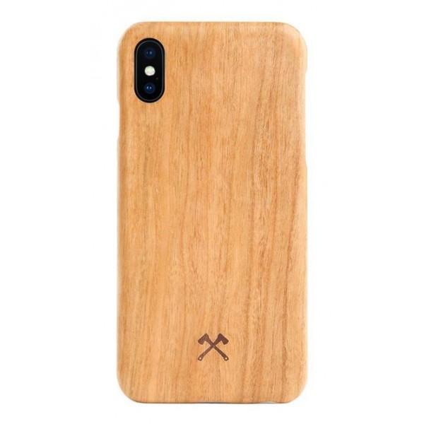 Woodcessories - Cover in Legno di Ciliegio e Kevlar - iPhone X / XS - Cover in Legno - Eco Case - Ultra Slim - Collezione Kevlar