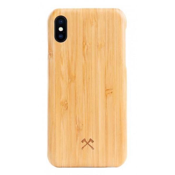 Woodcessories - Cover in Legno di Bamboo e Kevlar - iPhone X / XS - Cover in Legno - Eco Case - Ultra Slim - Collezione Kevlar