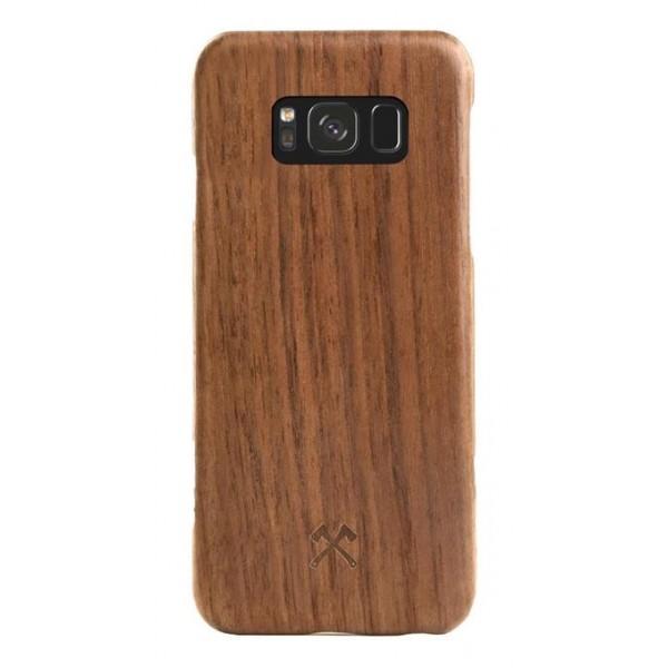 Woodcessories - Cover in Legno di Noce e Kevlar - Samsung S8 - Cover in Legno - Eco Case - Ultra Slim - Collezione Kevlar