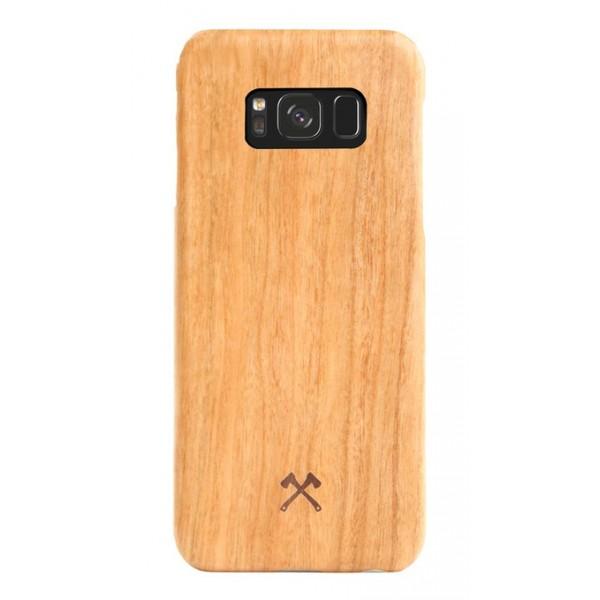 Woodcessories - Cover in Legno di Ciliegio e Kevlar - Samsung S8 - Cover in Legno - Eco Case - Ultra Slim - Collezione Kevlar