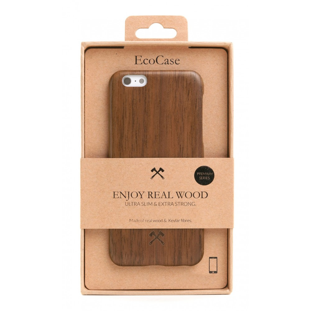 Woodcessories - Walnut / Cevlar Cover - iPhone X / XS - Wooden