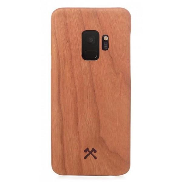 Woodcessories - Cover in Legno di Ciliegio e Kevlar - Samsung S9 - Cover in Legno - Eco Case - Ultra Slim - Collezione Kevlar