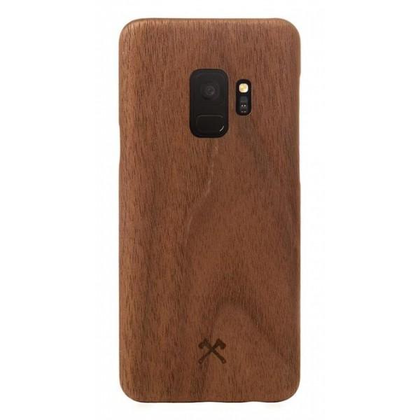 Woodcessories - Cover in Legno di Noce e Kevlar - Samsung S9 - Cover in Legno - Eco Case - Ultra Slim - Collezione Kevlar
