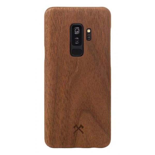 Woodcessories - Cover in Legno di Noce e Kevlar - Samsung S9+ - Cover in Legno - Eco Case - Ultra Slim - Collezione Kevlar