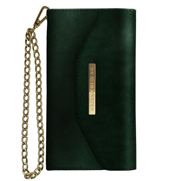 iDeal of Sweden - Mayfair Clutch Velvet Cover - Verde - iPhone X / XS - Custodia iPhone - New Fashion Collection