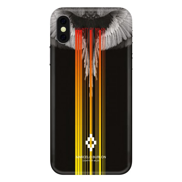 Marcelo Burlon - Cover Eagle Line - iPhone X Max - Apple - County of Milan - Cover Stampata