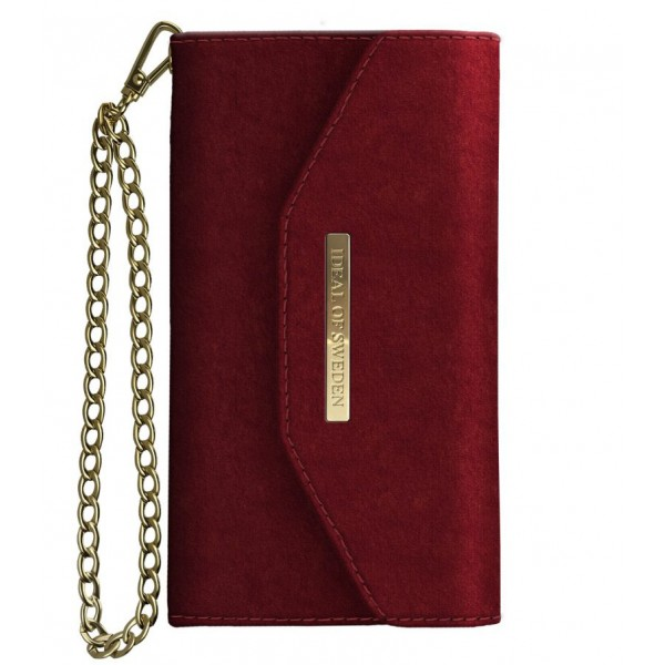 iDeal of Sweden - Mayfair Clutch Velvet Cover - Rosso - Samsung S9+ - Custodia iPhone - New Fashion Collection