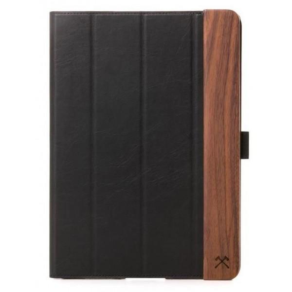 Woodcessories - Copertina Rigida in Noce e Pelle - iPad 2017 / 2018 (9.7) - Custodia Flip - Eco Flip Pelle e Legno