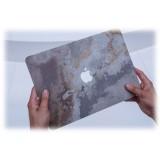 Woodcessories - MacBook Cover in Vera Pietra - Volcano Black - MacBook 12 - Eco Skin Stone - Apple Logo