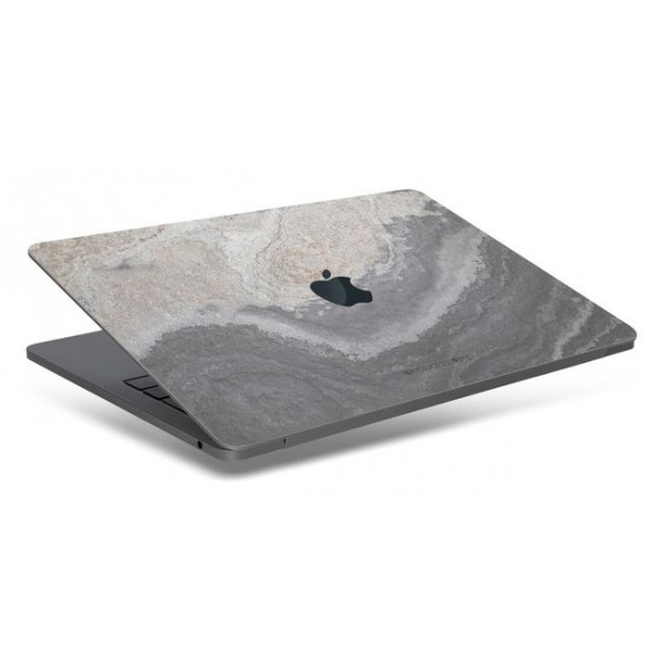 Woodcessories - Real Stone MacBook Cover - Camo Gray - MacBook 12 - Eco Skin Stone - Apple Logo