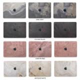 Woodcessories - MacBook Cover in Vera Pietra - Camo Gray - MacBook 12 - Eco Skin Stone - Apple Logo