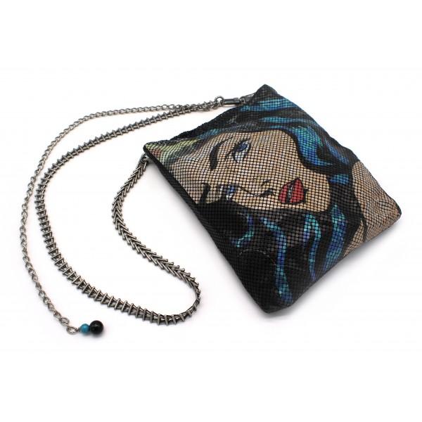 Laura B - Wonder Woman Disco - Borsa da Cinta - Gold Freya - Silver Tamara - Borsa di Alta Qualità Luxury
