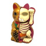 Fame Master - Piccolo Gatto della Fortuna - Oro - 4D Master - Mighty Jaxx - Jason Freeny - Body Anatomy - XX Ray - Art Toys