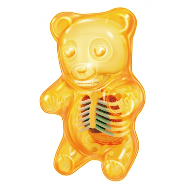 Fame Master - Small Gummi Bear - Orange - 4D Master - Mighty Jaxx - Jason Freeny - Body Anatomy - XX Ray - Art Toys